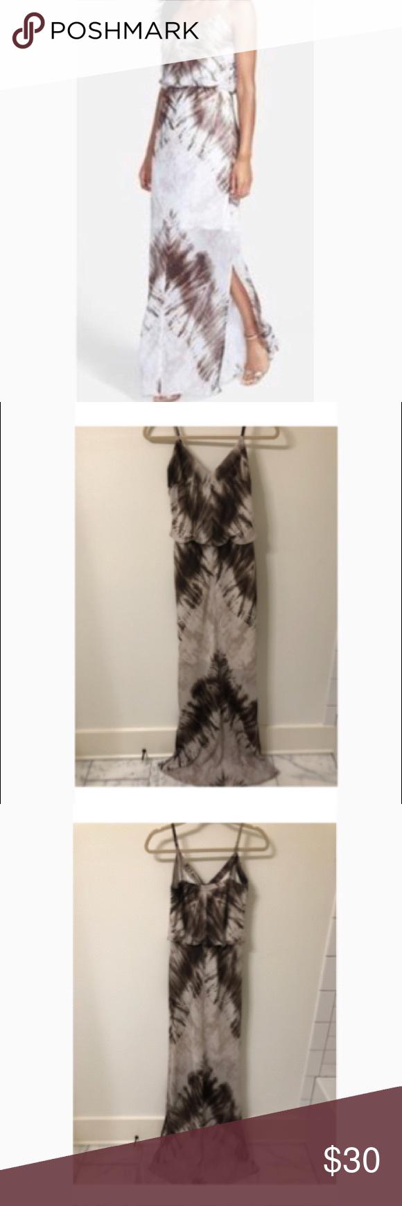 Vince Camuto Canyon Brown Tie Dye Maxi Dress Sz 6 Tie Dye Maxi Dresses Tie Dye Maxi Gauze Maxi Dress [ 1740 x 580 Pixel ]