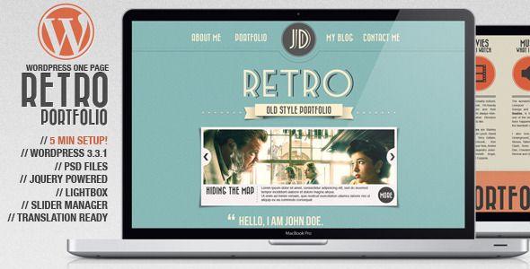 Retro Portfolio - One Page Vintage WordPress Theme | Pinterest