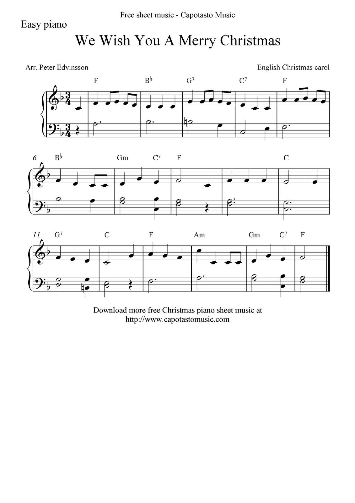 we_wish_you_a_merry_christmas | Christmas piano, Christmas piano sheet music, Merry christmas song