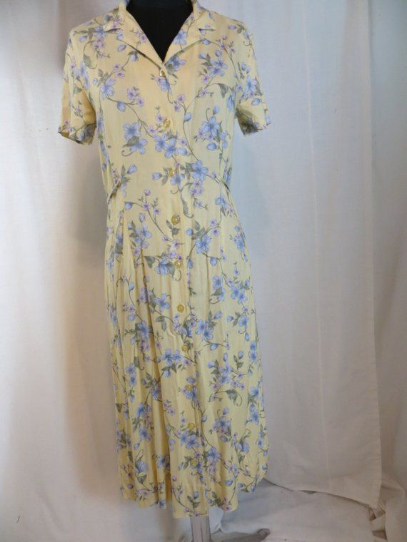 fa847bbbbabb Vintage 80's Feminine Floral Summer Dress Petite M by Erika Collection