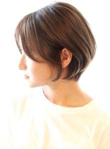 ショートヘア 30代40代に人気ひし形ショートボブ Reunaの髪型 ヘア