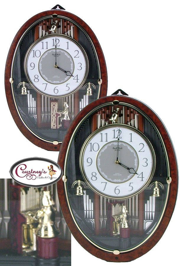 Similar To The Dual Organist From Rhythm Small World Clocks Except It Features Only One Organist He Swings Out And His Ha World Clock Rhythm Clocks All Songs