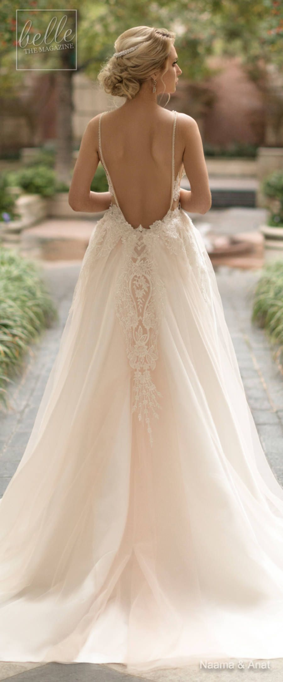 a2dce9066c Naama and Anat Wedding Dress Collection 2019 - Dancing Up the Aisle - Salsa  an elegant lace fitted sleeveless with strap deep plunging v neck heavily  ...