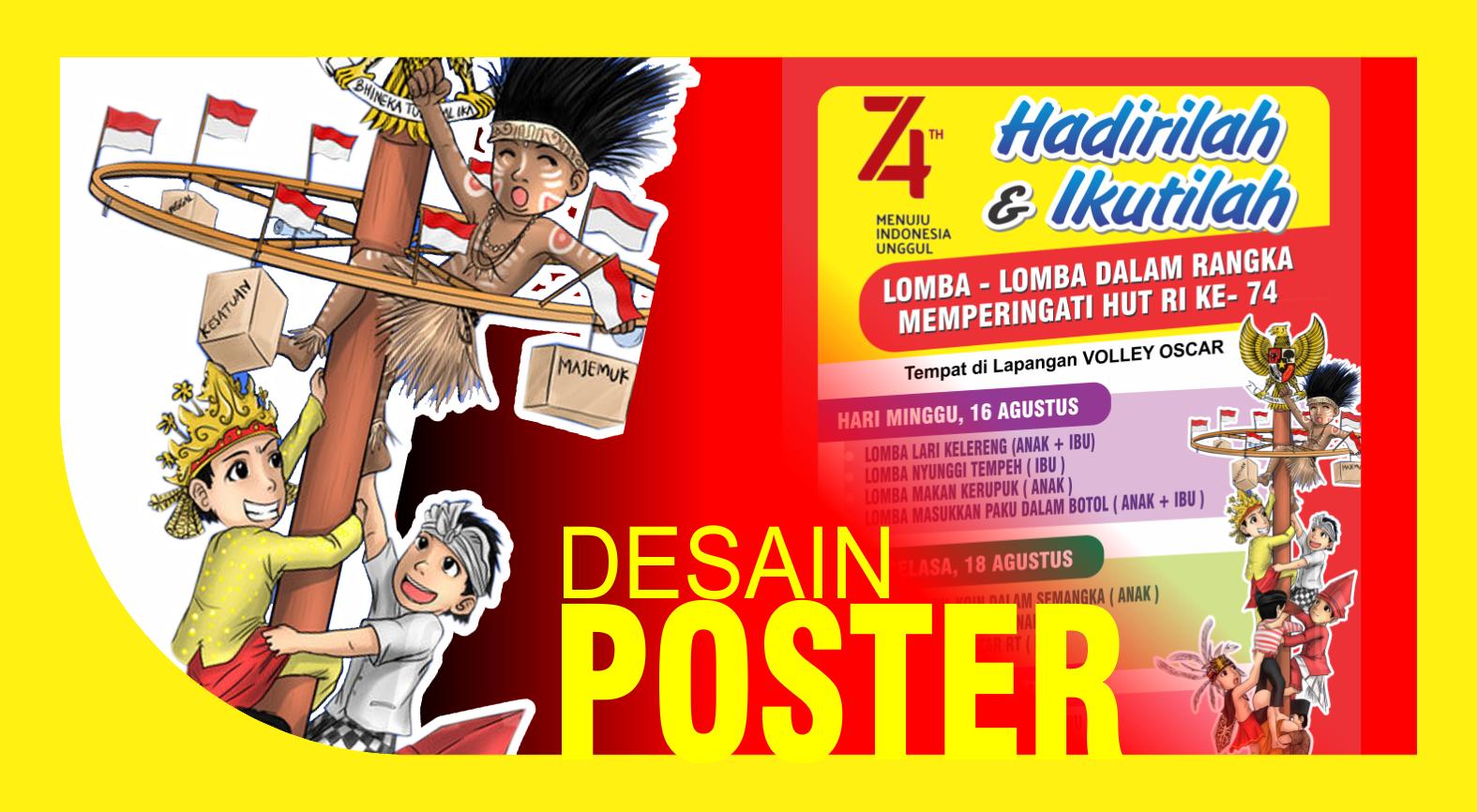 Desain Poster Baner Agustusan Poster Desain Poster Desain