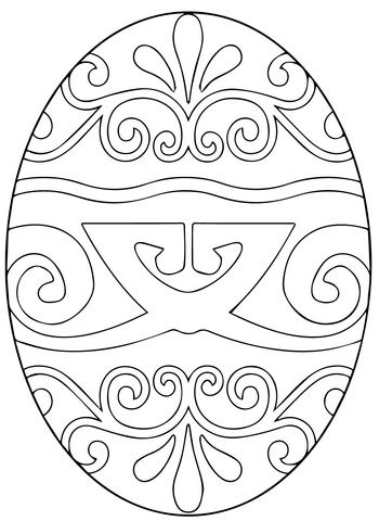 Pysanka Ukrainian Easter Egg coloring