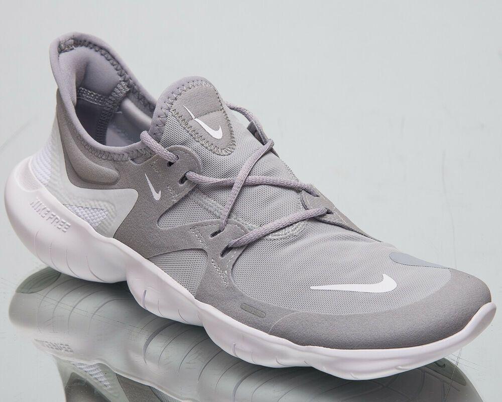 15f7ae4626ac (eBay Sponsored) Nike Free RN 5.0 Men s New Wolf Grey White Platinum Running  Sneakers AQ1289-001