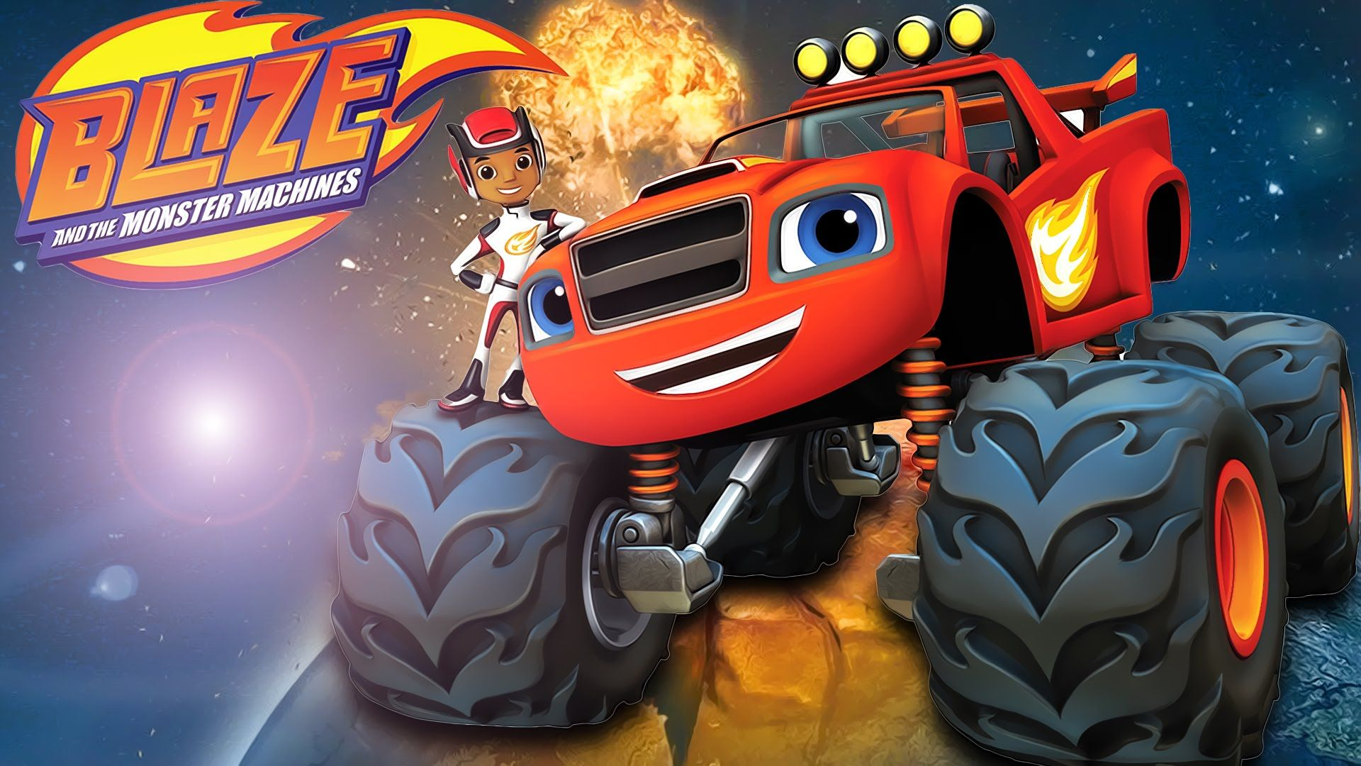 Race Car Kids Blaze And Monster Machines