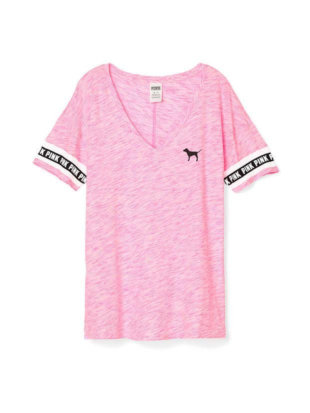 285d777e36ad4 Boyfriend V-Neck Tee - PINK - Victoria's Secret   — VS pink ...