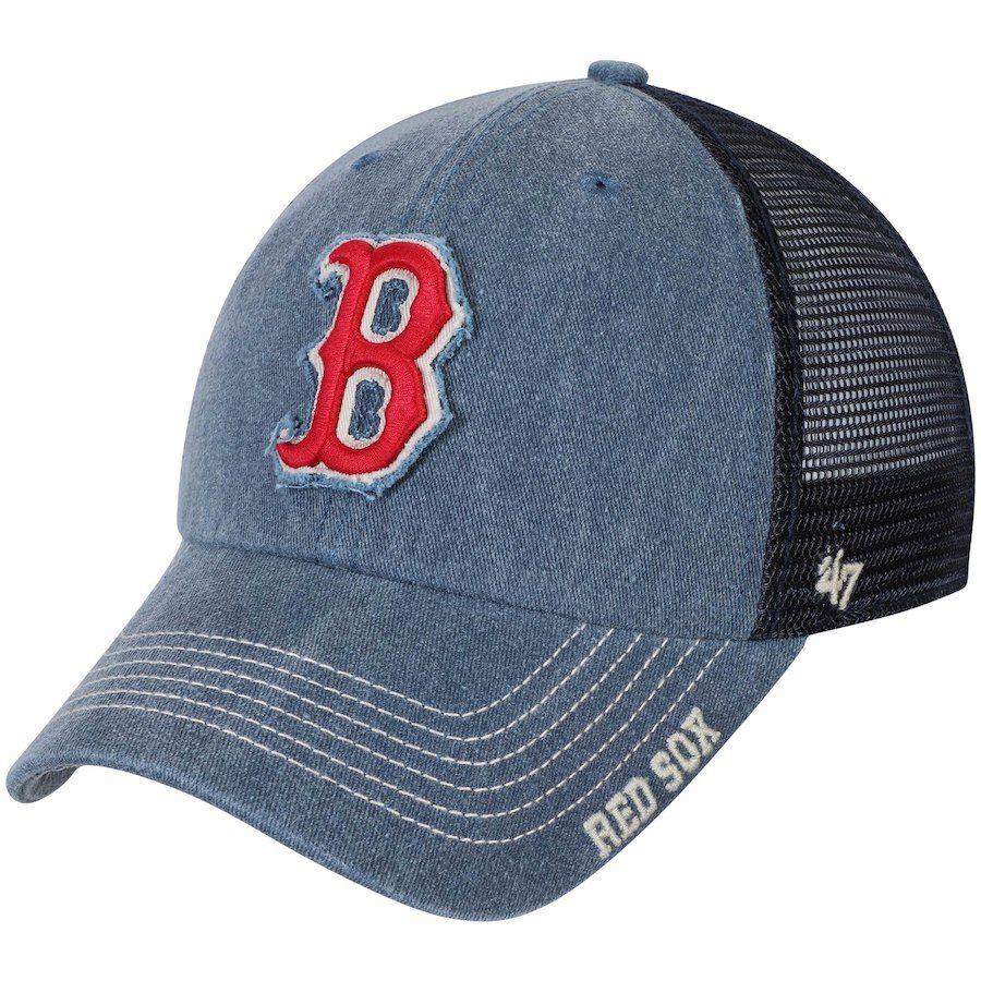8aaa995cd Men's Boston Red Sox '47 Navy Burnstead Clean Up Trucker Adjustable ...