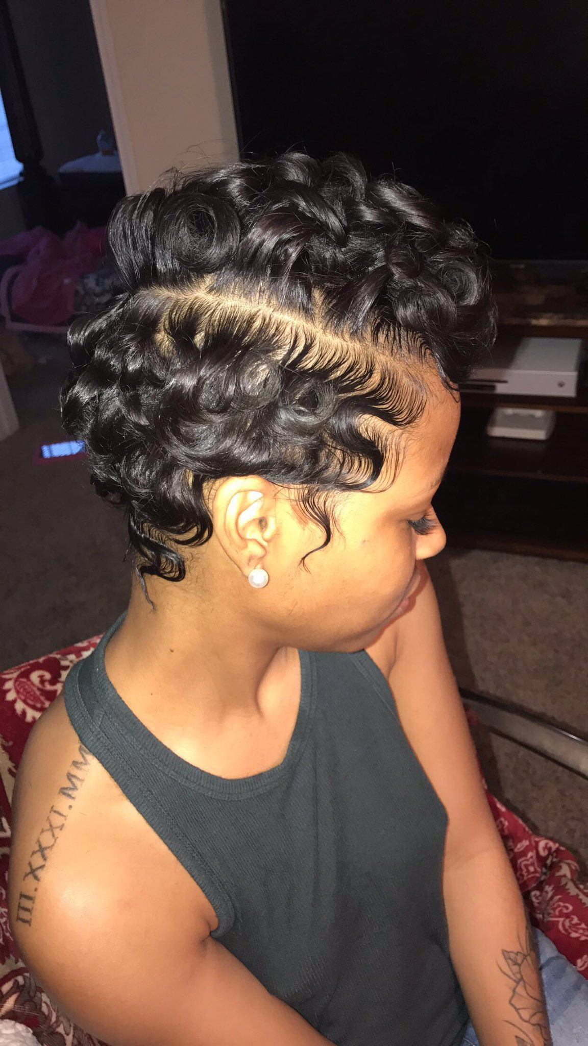 pin on finger wave