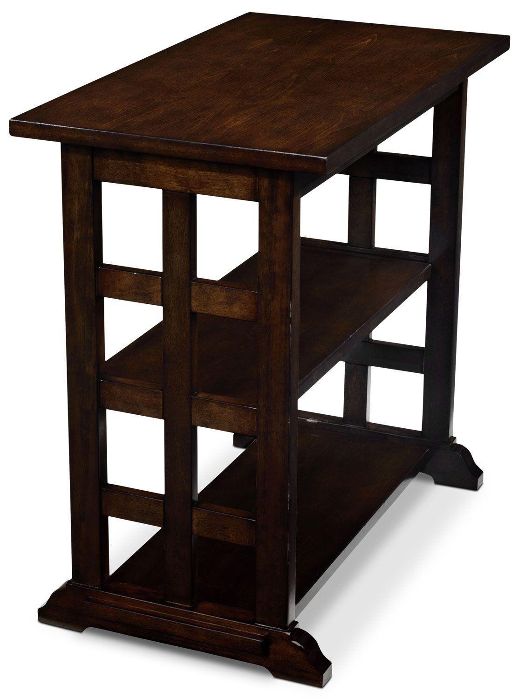 Gander Accent Table Dark Brown