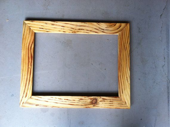 12x16 Natural Wood Frame Handmade Etsy Natural Wood Frames Frame Wood Frame