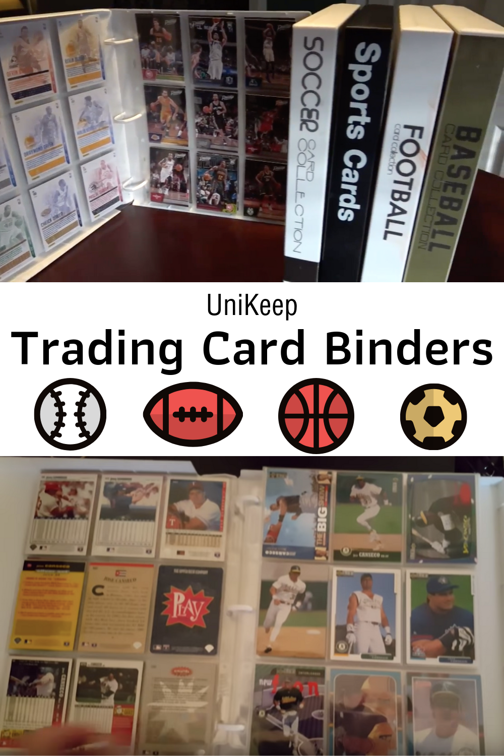 Perfect For Any Trading Card Collection Our Attractively Designed Sports Card Collection Bind Trading Card Storage Sports Cards Collection Trading Card Binder