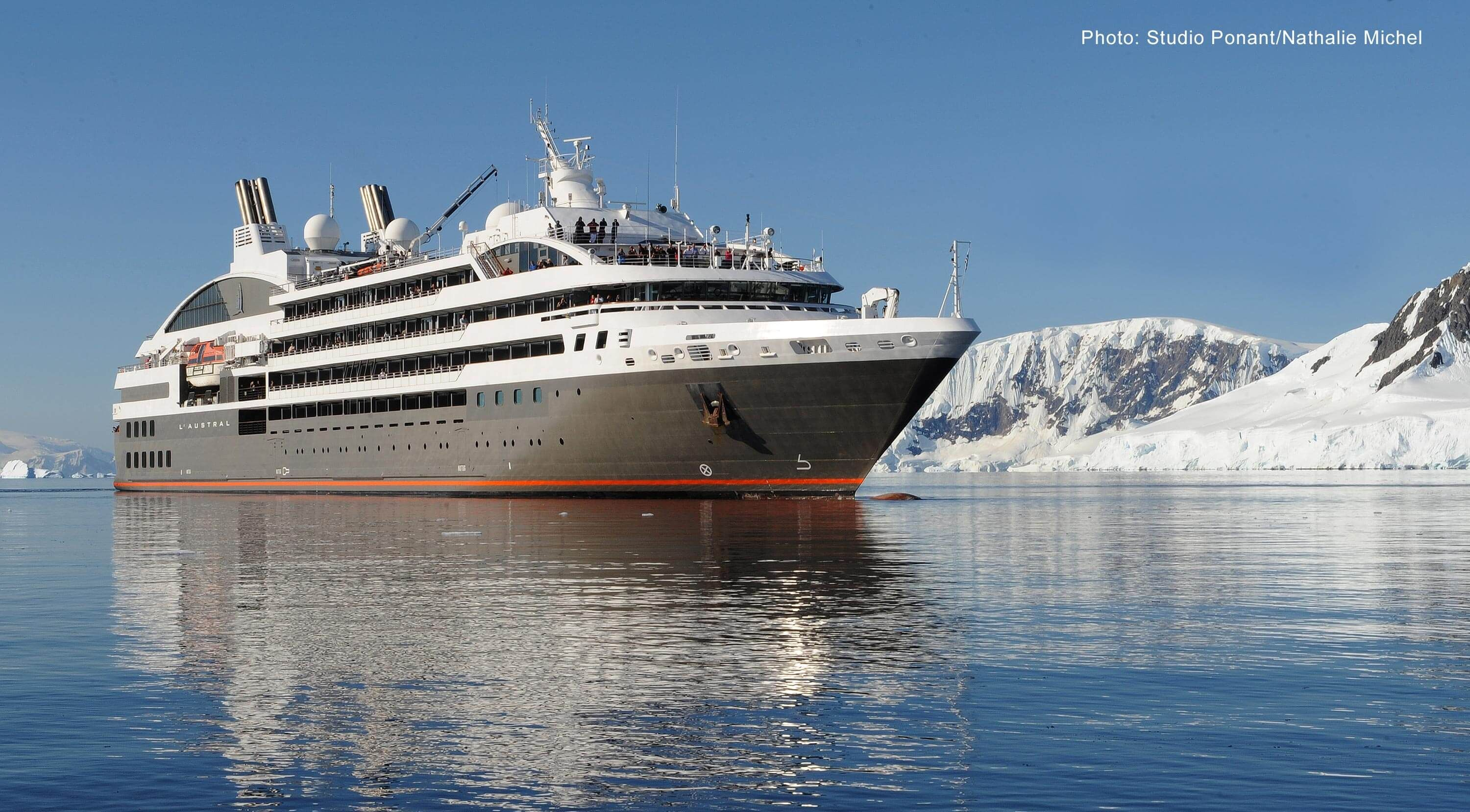 L Austral Cruise Ship On A Sunny Day In Alaskan Waters Photo