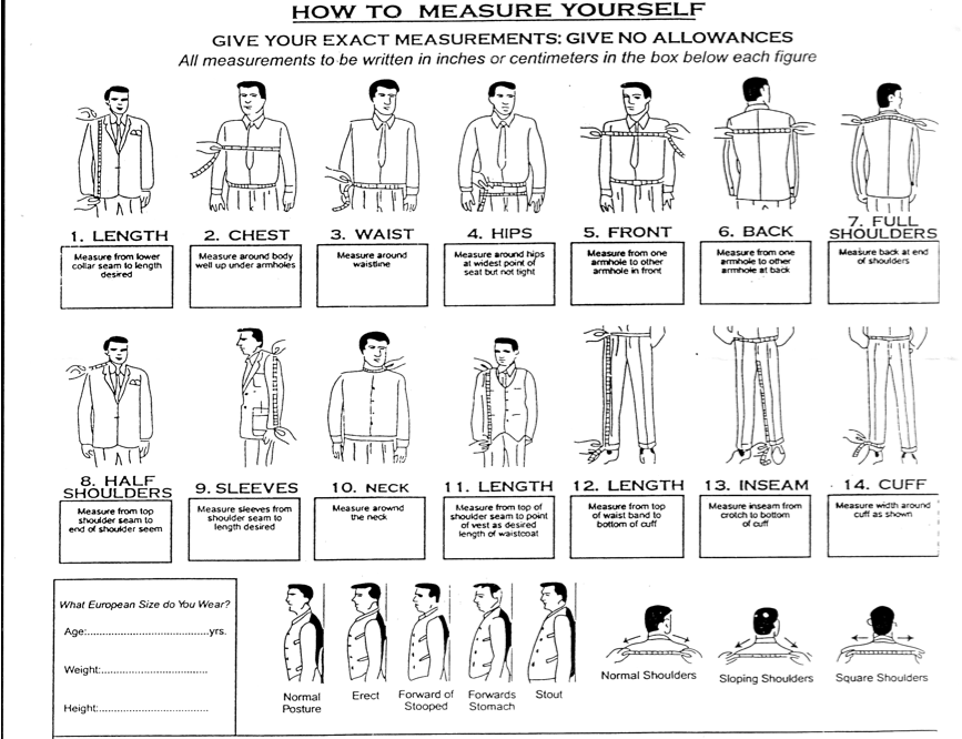 Suit Measurements Chart Google Search Suit Measurements Sewing Measurements Suits