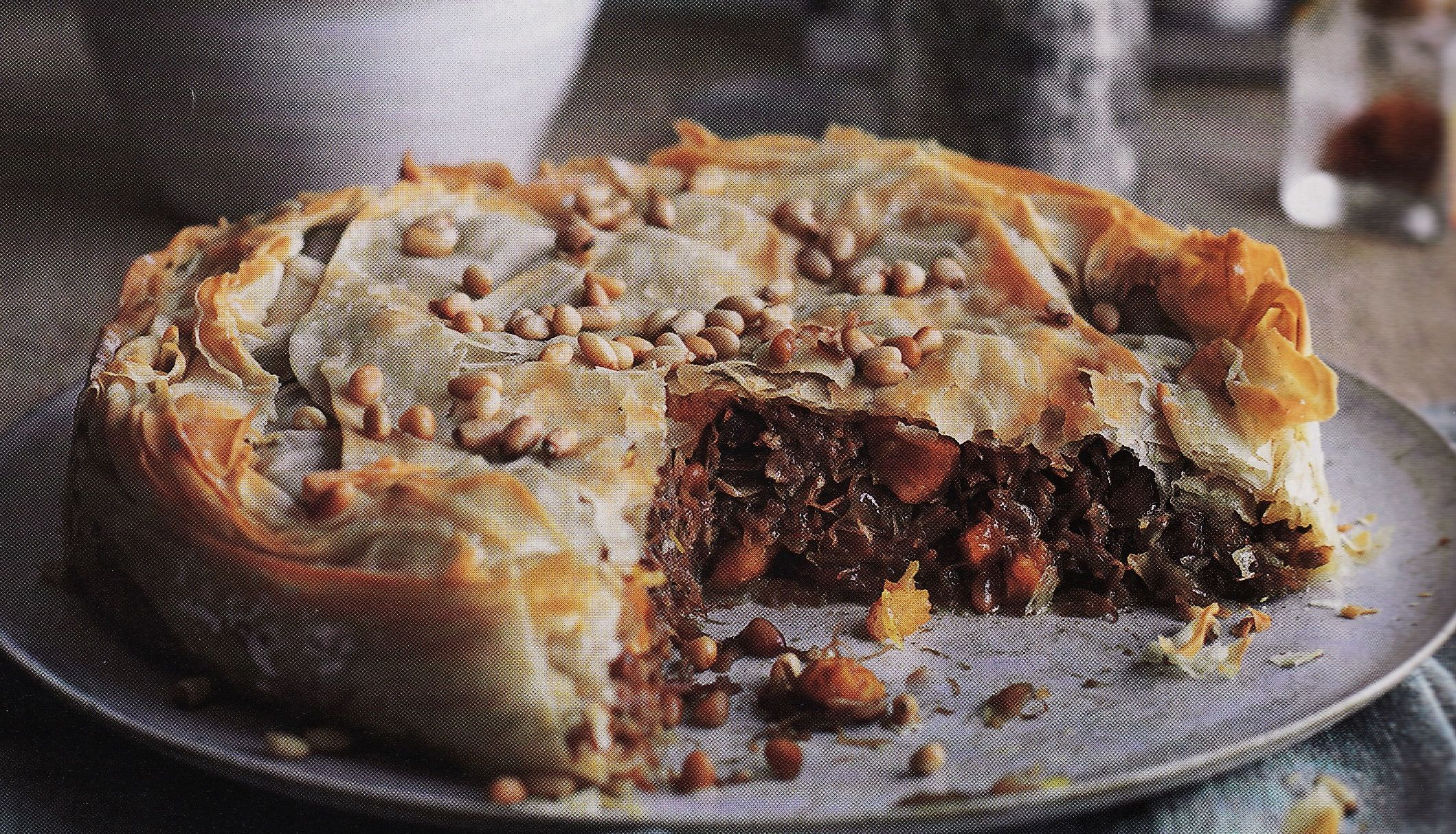 Pastilla - Spanish-moroccan version. Made with pigeon meat and couscous