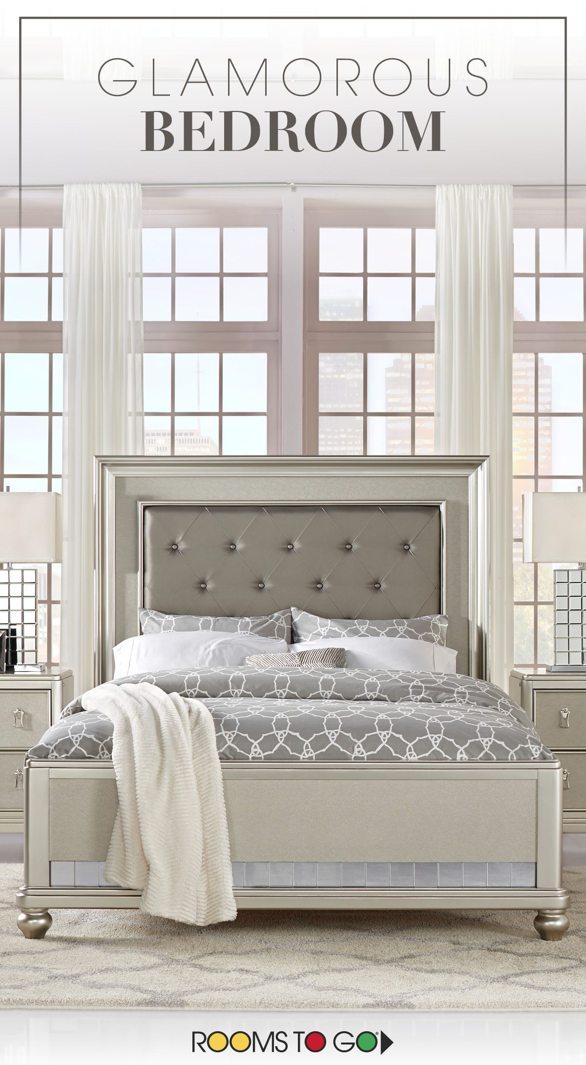 Elegant Luxurious Glamorous The Chic Paris Collection Combines Lavish Design With Smart Or Rooms To Go Bedroom Glamourous Bedroom Teenage Girl Bedroom Decor