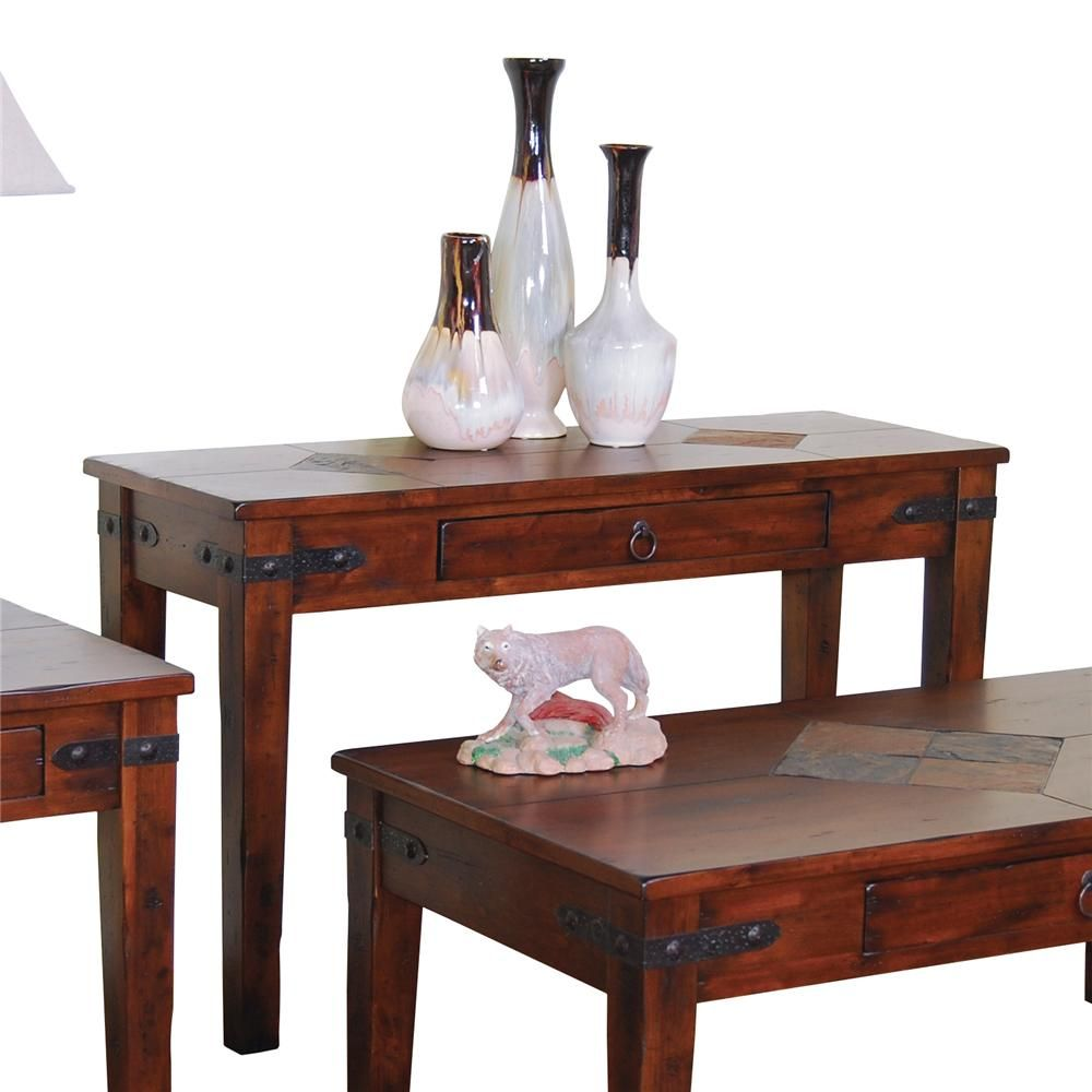 Santa Fe Traditional 1 Drawer Sofa Table by Sunny Designs ...