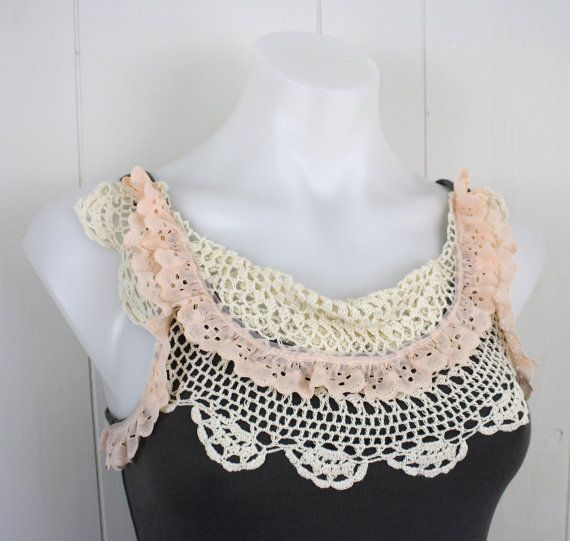 Home › daileedose › Clothing Doily Lace Tank S | upcycled clothing ...