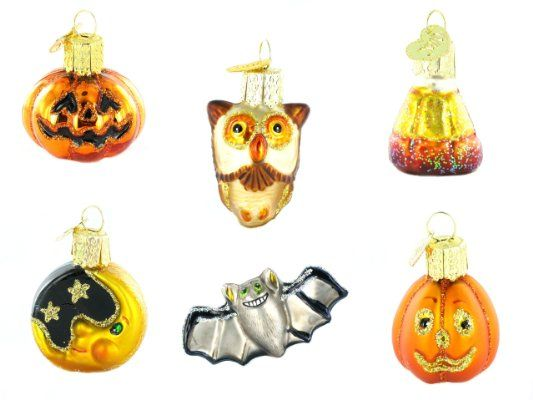 Old World Christmas Mini Halloween Ornament Set, 6 PiecesAmazon