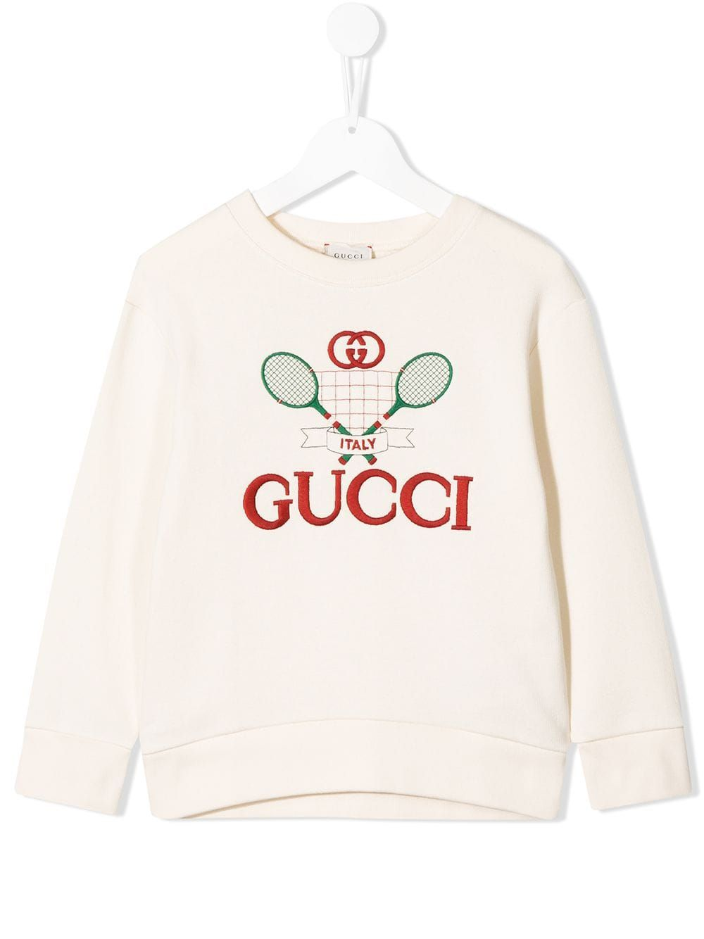 Gucci Kids Gucci Tennis Sweatshirt Farfetch Gucci Kids Sweatshirts Badminton Logo [ 1334 x 1000 Pixel ]