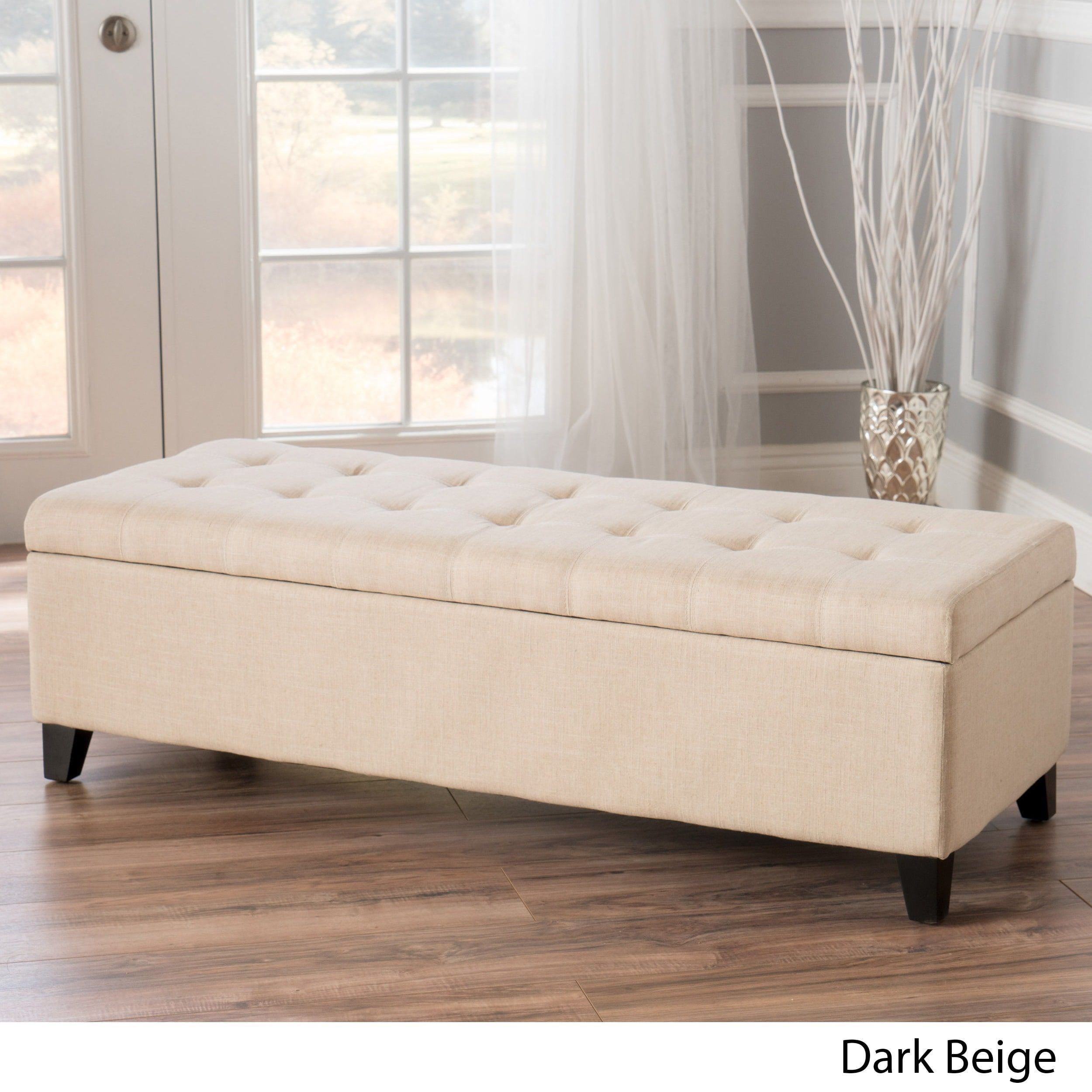 Swell Mission Tufted Fabric Storage Ottoman Bench By Christopher Gmtry Best Dining Table And Chair Ideas Images Gmtryco