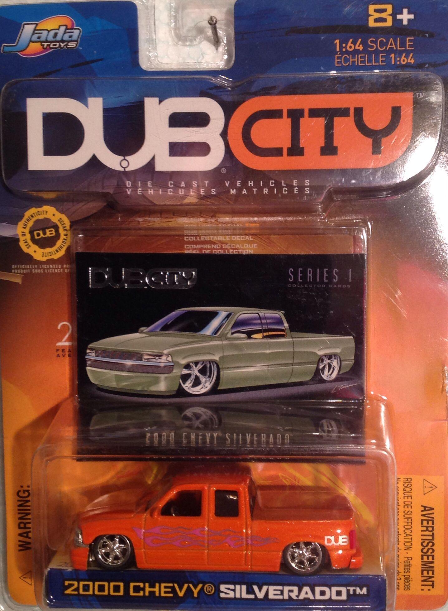 Jada, Dub City, 2000 Chevy Silverado, 1:64 diecast