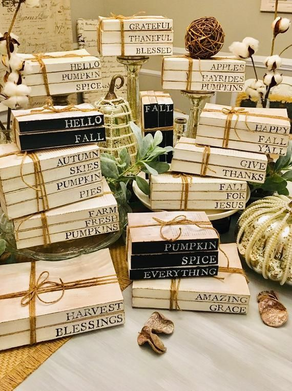 Custom Book Set / Stamped Book Stacks / Farmhouse Books / Personalized Stamped Books / New home Gift / Personalized Gifts
