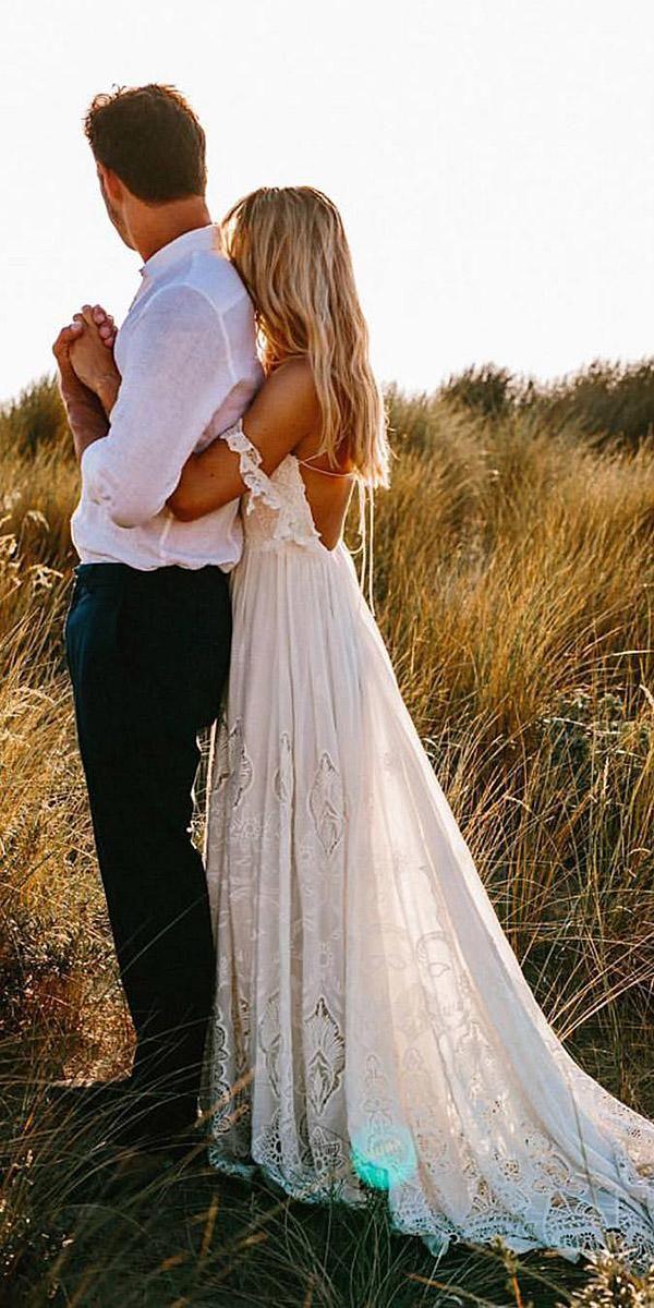 24 Unforgettable Beach Destination Wedding Dresses #bohoweddingdress