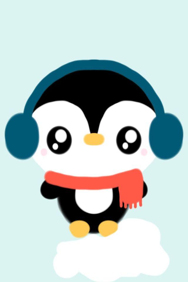 Kawaii penguin christmas no l pinterest - Apprendre a dessiner un pingouin ...