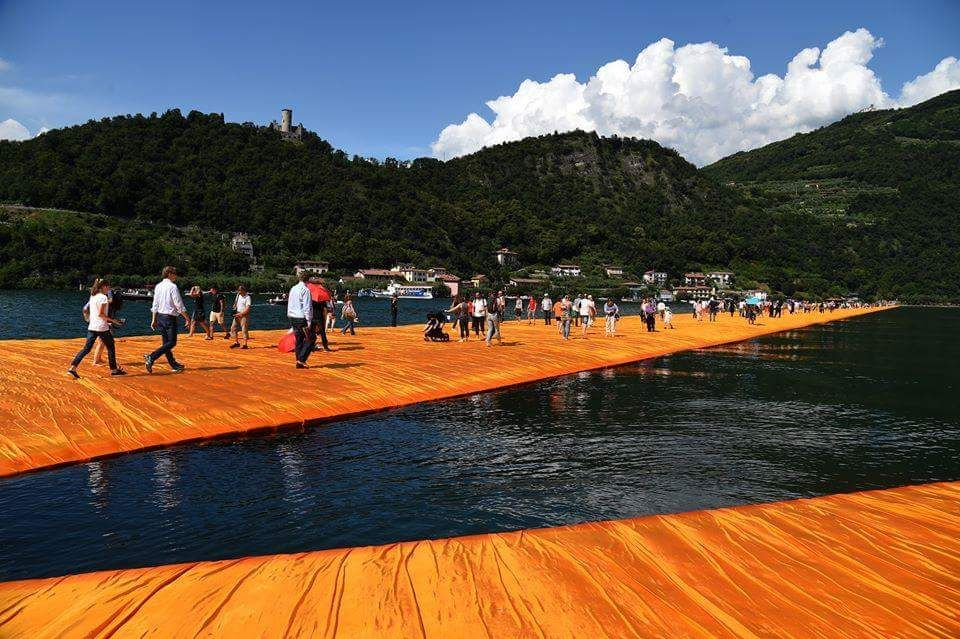 """"""" The Floating Piers """" of Christo , Lago D'Iseo , Italy ,,,"""