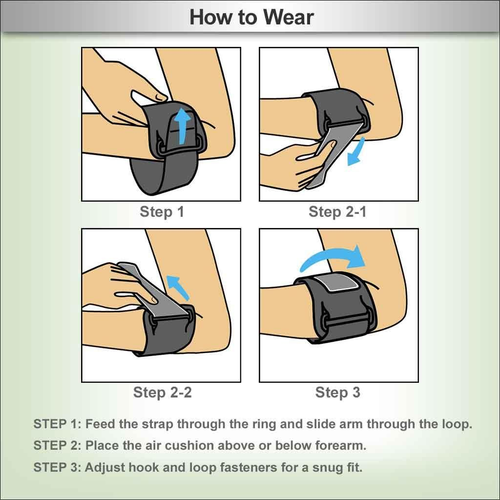 how to wear tennis elbow support strap