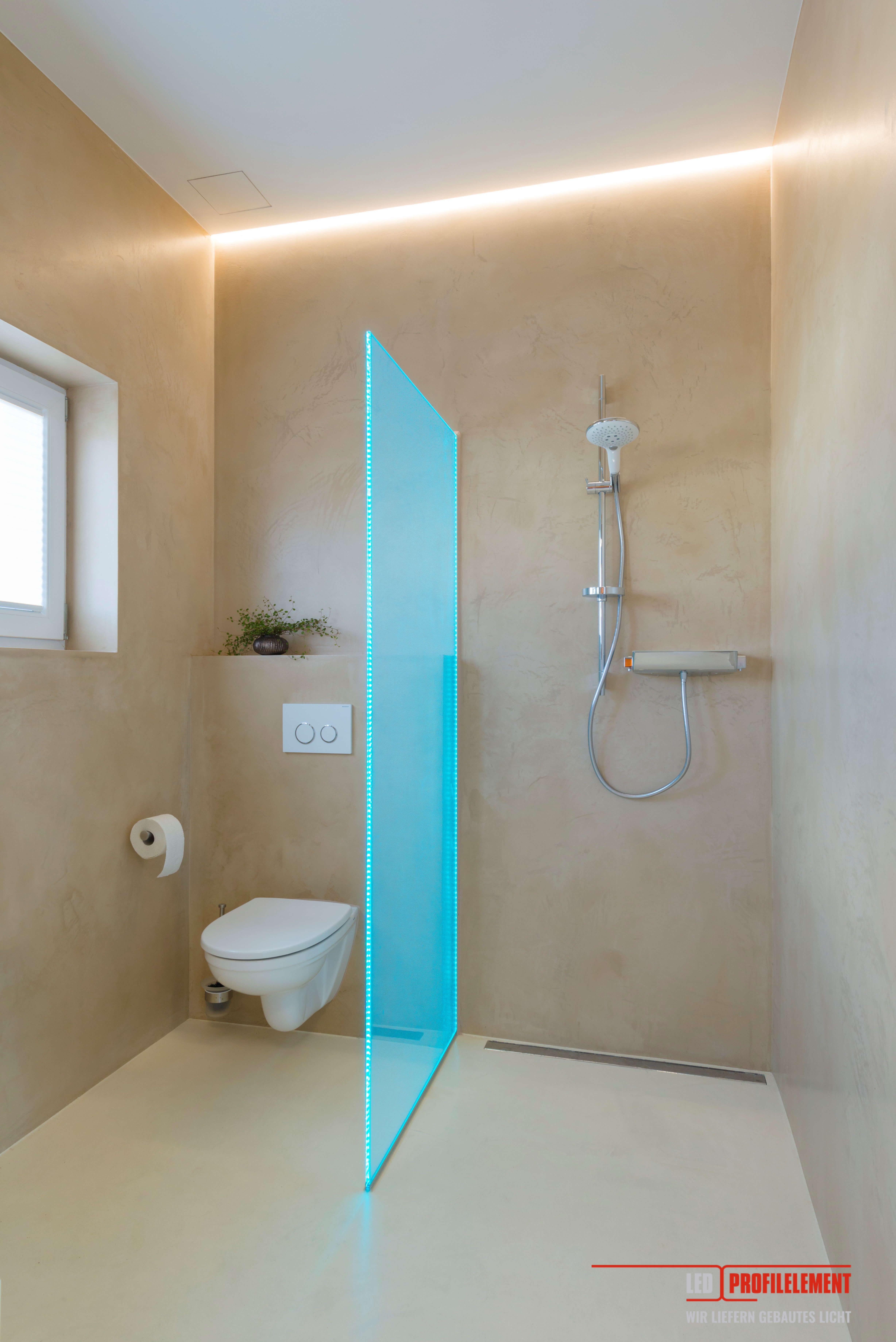 Led Profilelement Lichtdesign Konzept Realisierung Badezimmer Led Badezimmer Licht Und Duschwand