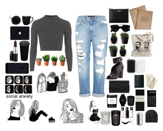 """""""xccgycwygcec"""" by julixjulix ❤ liked on Polyvore featuring Topshop, Genetic Denim, Forever 21, Cavallini & Co., Royce Leather, Aspinal of London, Muuto, Laurence Dacade, Chanel and LEXON"""
