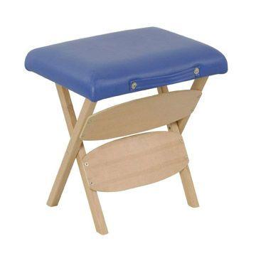 Sukar appearing portable wood massage stool