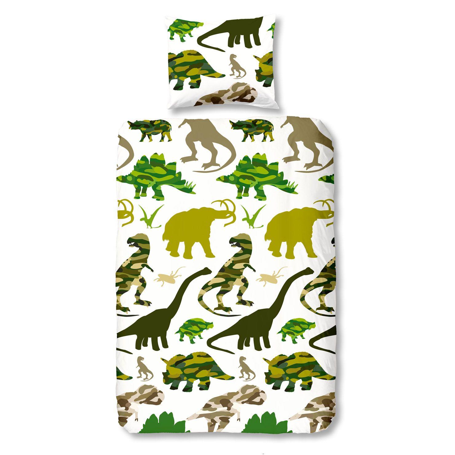 Dinosaur Single Duvet Cover And Pillowcase For The