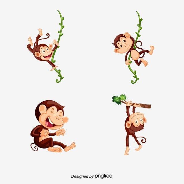 يتأرجح قرد قرد قصاصة فنية قرد كرتون Png والمتجهات للتحميل مجانا Cartoon Monkey Cartoons Png Swinging Monkey