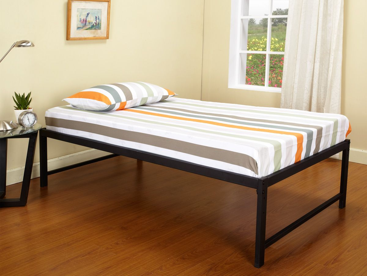 B39 SERIES - 39\'\'/ Twin Size Black Steel High Riser Day Bed Frame ...