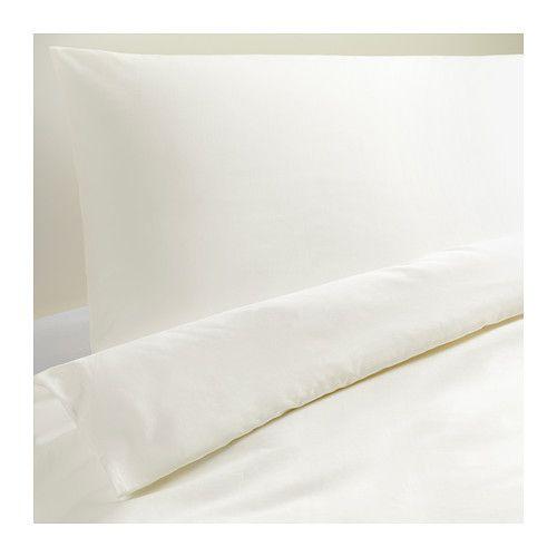 ikea dvala housse de couette et taie 150x200 65x65 cm les boutons pression cach s. Black Bedroom Furniture Sets. Home Design Ideas