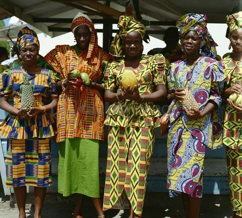 Women In Traditional Dress Barbados West Indies Caribbean Central America