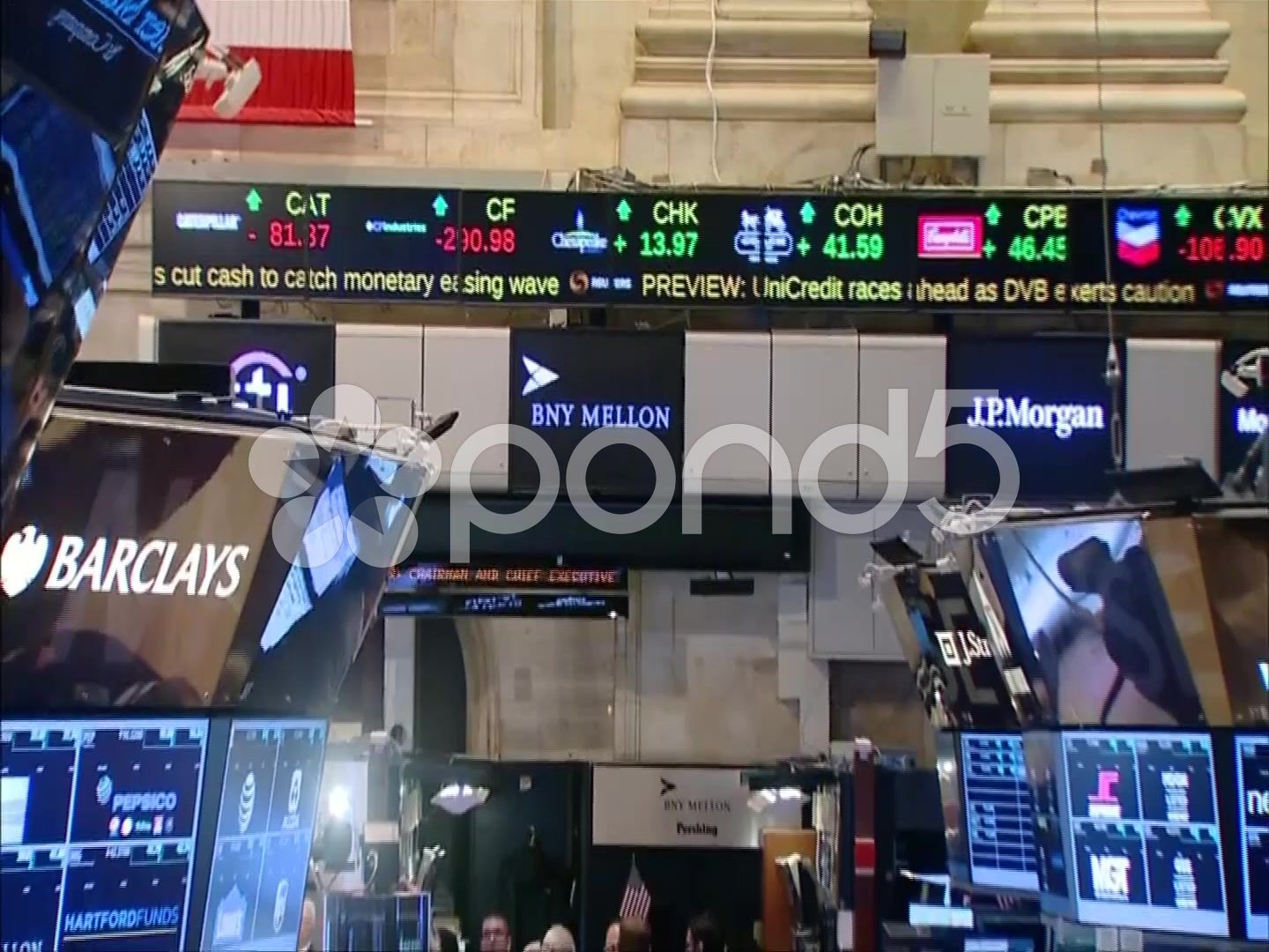 Inside New York Stock Exchange Nyse Stocks And Shares Ticker Stock Footage Exchange Nyse York Stock Stock Exchange Stock Footage Stocks And Shares