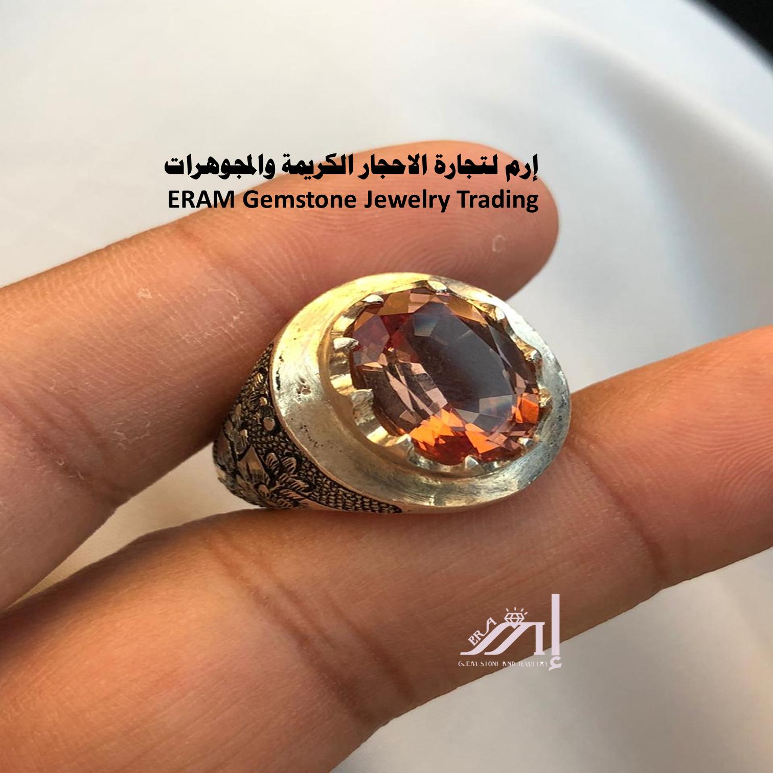 من اجمل الاحجار الكريمة اليمانية وأندرها خاتم الكسندريت Alexandrite مميز طبيعي100 للعرض Gemstone Jewelry Rings For Men Gemstones