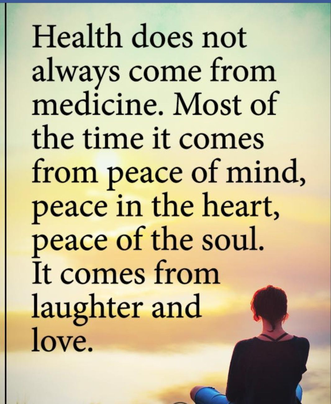 Healing The Body Doesnu0027t Always Come From Medicine. #laughter #love #