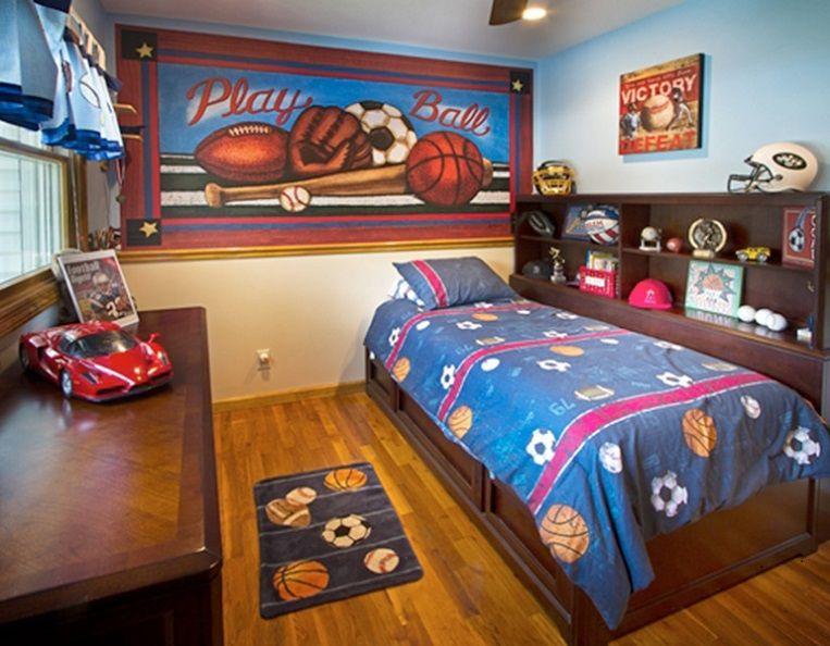 Exterior: Dark Polish Furniture Kids Bedroom Design Id918