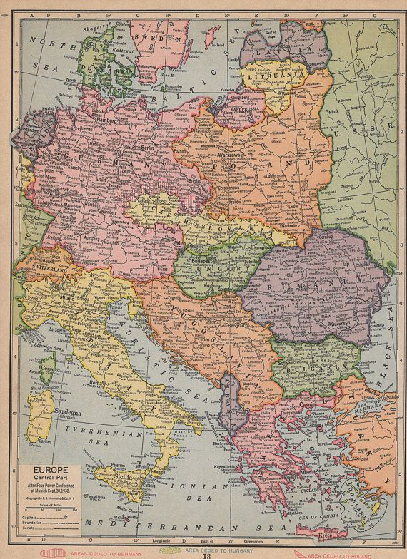 Vintage 1935 Atlas Map of Central Europe and Switzerland ... on online atlas of europe, climate map of europe, atlas asia map, atlas europe with capitals, world map europe, large map of europe, map of western europe, 1660 map of europe, rivers of europe, political map of europe, map of southern europe, detailed map of europe, 1872 map of europe, current atlas of europe, view of europe, current map europe, gerardus mercator map of europe, aerial map of europe, attractions of europe,