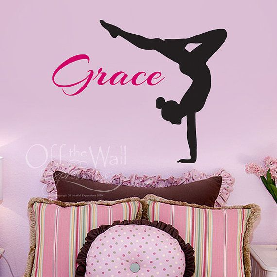 Monogram Wall Decal Personalized Girl Name Custom Decal Teen - Custom vinyl stickers for girls