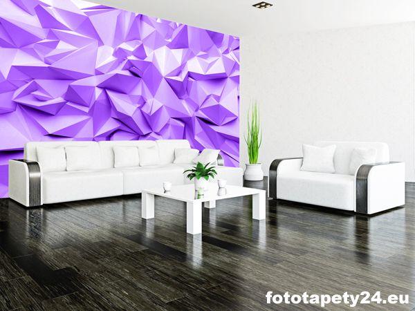 Fioletowa Fototapeta Do Salonu Abstrakcja 3d Fototapety Do Pokoju