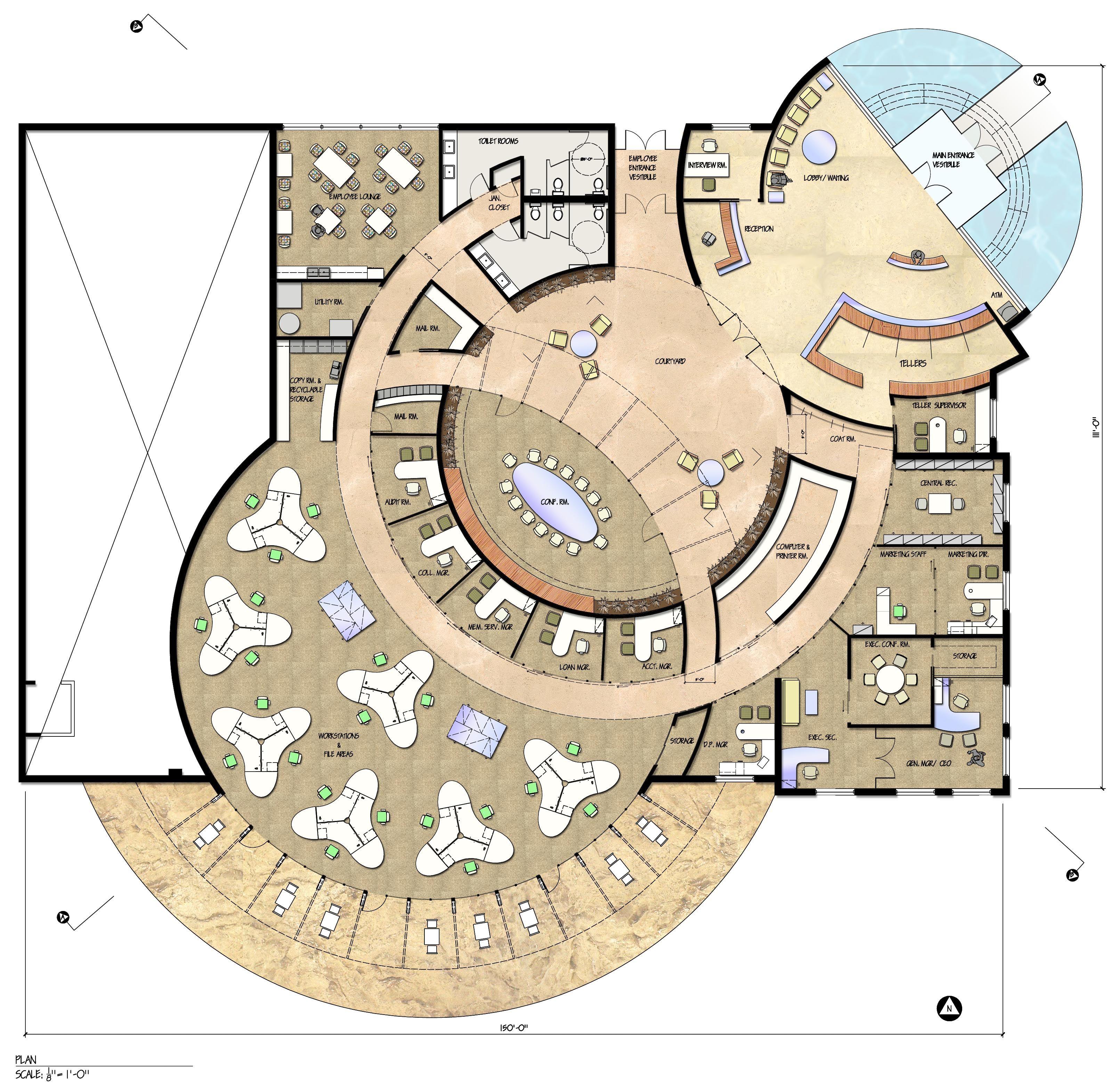 Half Circle Floor Plans Circular Building Floor Plan