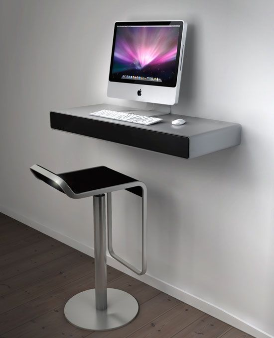 Idesk by ikoncept desk design product design for Bureau qui s accroche au mur