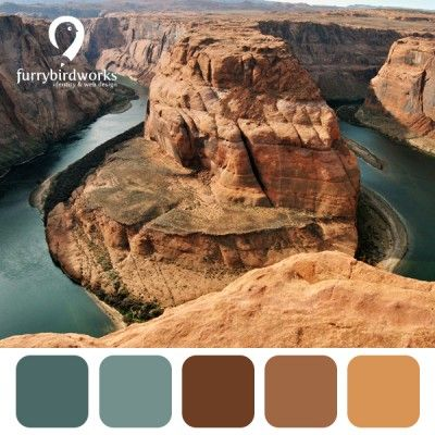 Colour palette inspired by countries - USA - furrybirdworks.com